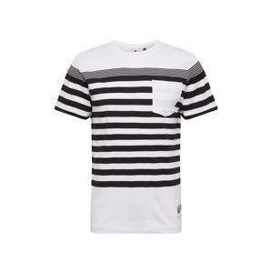 G-Star RAW Tričko 'Vacation stripe'  černá / bílá