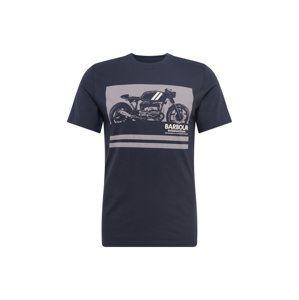 Barbour International Tričko 'Regulator Tee'  námořnická modř / světle šedá
