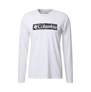 COLUMBIA Tričko 'Lookout Point'  bílá / khaki / šedá