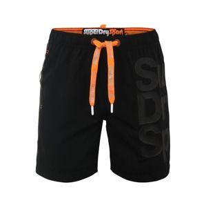 Superdry Sportovní plavky  oranžová / černá