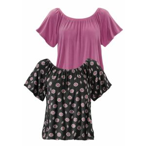 BUFFALO Tričko  tmavě růžová / černá