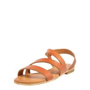 Apple Of Eden Páskové sandály 'Lena'  koňaková