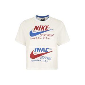 Nike Sportswear Tričko  modrá / bílá