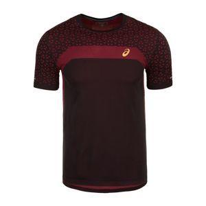 ASICS Funkční tričko 'Seamless Texture'  krvavě červená / černá