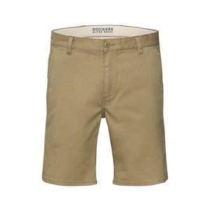 Dockers Chino kalhoty 'ALPHA SHORT - STRETCH TWILL'  tmavě béžová
