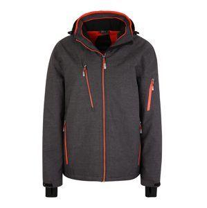 KILLTEC Outdoorová bunda 'Murien'  tmavě šedá / oranžová