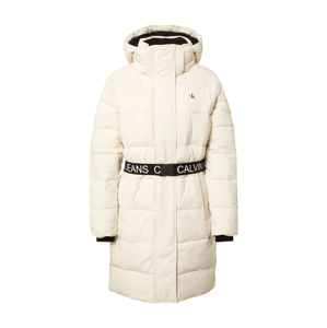 Calvin Klein Jeans Zimní kabát  bílá / černá