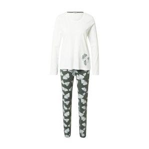 ESPRIT Pyžamo 'Hanni'  khaki / bílá