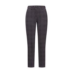 MORE & MORE Chino kalhoty 'Check Hedy'  světle hnědá / černá