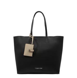 Calvin Klein Nákupní taška 'TACK SHOPPER'  černá