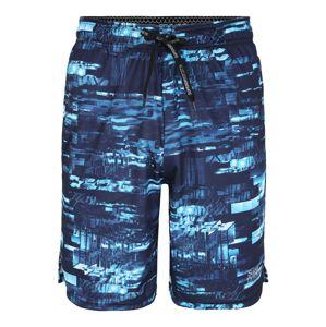 Superdry Sportovní kalhoty 'ACTIVE TRICOT'  námořnická modř / aqua modrá