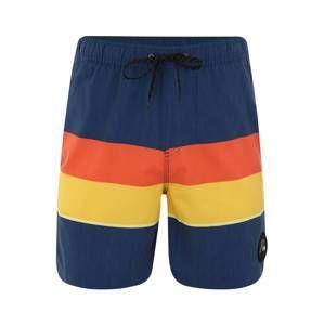 QUIKSILVER Plavecké šortky 'SEASONSVOL17 M JAMV'  tmavě modrá / žlutá / oranžová