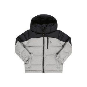 POLO RALPH LAUREN Zimní bunda  šedá / černá