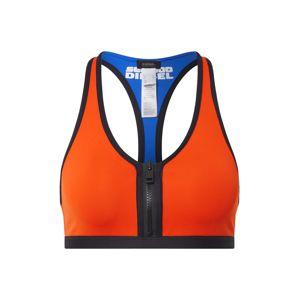 DIESEL Horní díl plavek  oranžová / černá