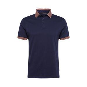 BURTON MENSWEAR LONDON Tričko  námořnická modř / hnědá