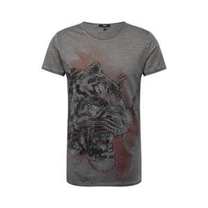 Tigha Tričko 'Wild Tiger MSN'  šedá / červená / černá