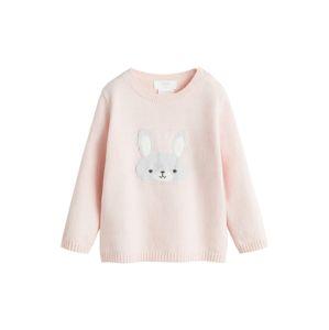 MANGO KIDS Svetr 'cute'  růžová