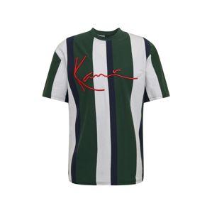 Karl Kani Tričko 'Stripe Tee'  bílá / červená / zelená