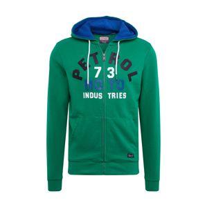 Petrol Industries Mikina s kapucí  zelená / modrá