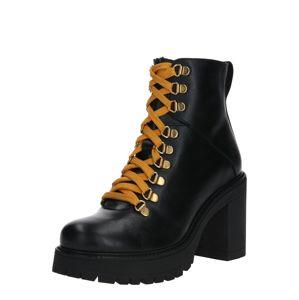 Bianco Šněrovací boty 'BIACURTIS Leather Boot'  černá