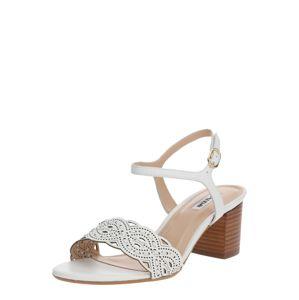 Dune LONDON Páskové sandály 'JELLA'  bílá