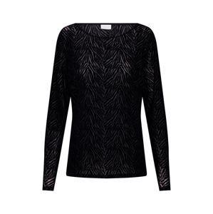 VILA Tričko 'SEBRA'  černá