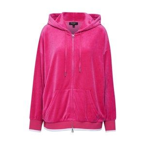 Juicy Couture Black Label Mikina s kapucí 'TRK Studded Logo Luxe Velour Hoodie Jacket'  pink