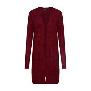 ONLY Pletený kabátek 'BERNICE'  vínově červená