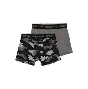 SANETTA Spodní prádlo 'DP Hipshort'  šedý melír / černá