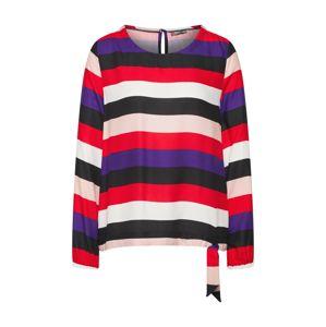 STREET ONE Halenka 'Printed blouse w knotted botto'  bobule / červená / černá / bílá
