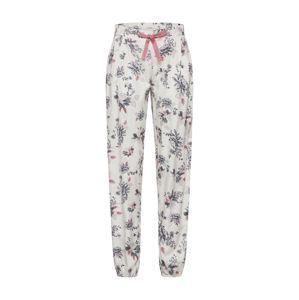 ESPRIT Pyžamové kalhoty  šedá / bílá