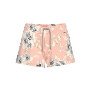 LASCANA Pyžamové kalhoty  světle šedá / růžová / přírodní bílá