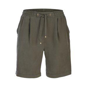 Heine Kalhoty se sklady v pase  khaki