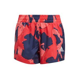 ADIDAS PERFORMANCE Sportovní kalhoty  námořnická modř / červená / růžová