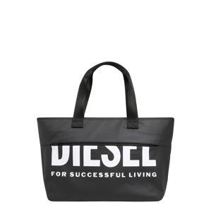 DIESEL Nákupní taška  bílá / černá