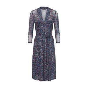 King Louie Letní šaty 'Emmy Dress Midi Dallas'  modrá / mix barev / červená