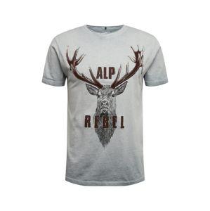 MARJO Krojové tričko '016 L28 Benno Shirt'  šedá
