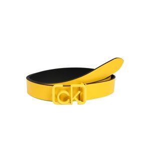 Calvin Klein Opasek 'SIGNATURE 3CM'  žlutá