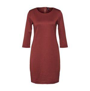 VERO MODA Společenské šaty 'VMVIGGA 3/4 PLAIN SHORT DRESS COLOR'  rezavě červená