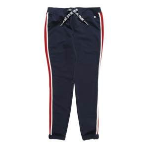 TOM TAILOR Kalhoty  námořnická modř / červená / bílá