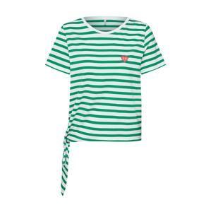 ONLY Tričko 'onlfBRAVE'  zelená / bílá