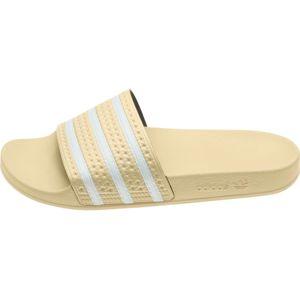 ADIDAS ORIGINALS Pantofle 'Adilette'  krémová / bílá