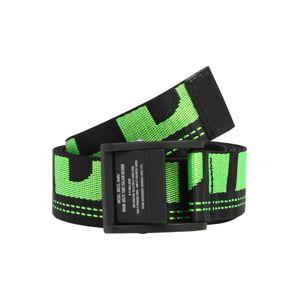 DIESEL Opasek 'B-MASER'  černá / světle zelená
