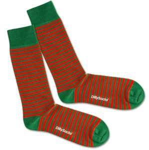 DillySocks Ponožky 'Green Liner'  zelená / červená