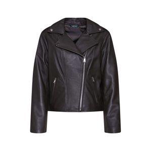 Lauren Ralph Lauren Přechodná bunda 'CLASSIC MOTO-JACKET'  černá