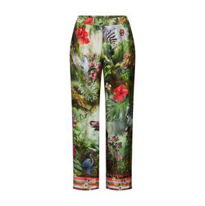 PRINCESS GOES HOLLYWOOD Kalhoty 'pano jungle'  barva bílé vlny / tmavě zelená