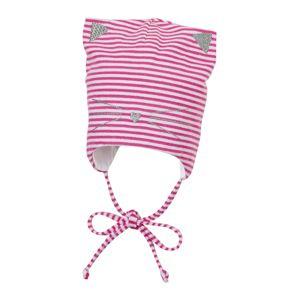 STERNTALER Čepice  pink / bílá / stříbrná