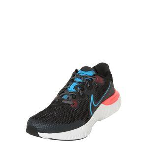 NIKE Běžecká obuv 'Renew Run'  černá / světlemodrá / světle růžová / bobule / tmavě šedá