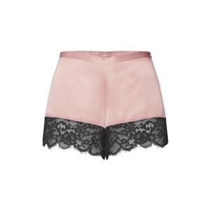 Hunkemöller Pyžamové kalhoty 'Short Satin Poppy'  černá