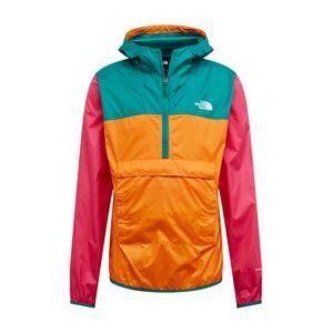 THE NORTH FACE Přechodná bunda 'M FANORAK'  zelená / oranžová / pink